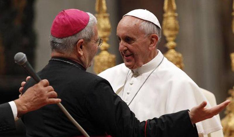 Messaggio del Vescovo Francesco sul colloquio telefonico con il Santo Padre