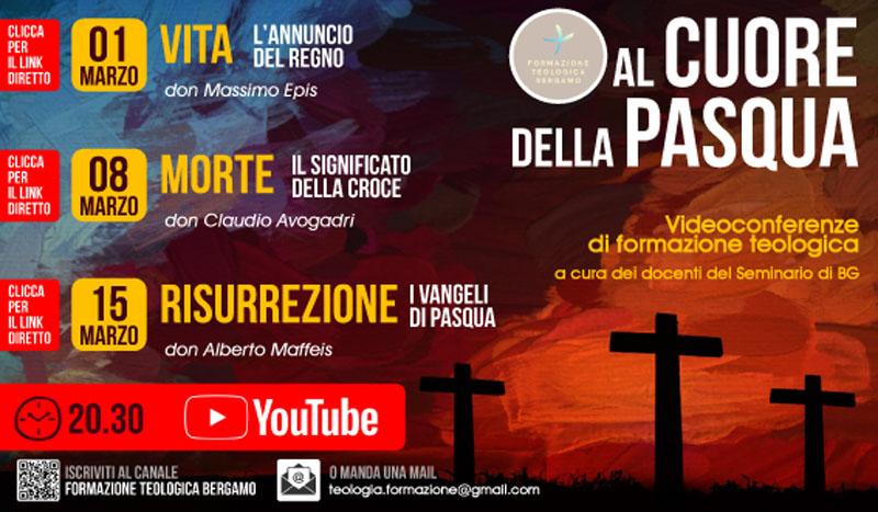 """A marzo – Formazione Teologia on line """"Al cuore della Pasqua"""""""